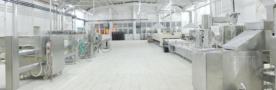 bread bakery food factory production with fresh products
